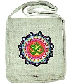 Hemp Shoulder Bag with OM Symbol (Natural)