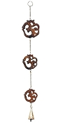 Wind Chimes - Hanging Wooden Om With Bell