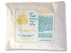Yellow Jambala Incense Powder