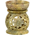 Soapstone Oil Burner - Lotus