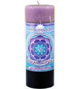 Crystal Journey Mandala Pillar Candle - Illumination - Aum Lotus