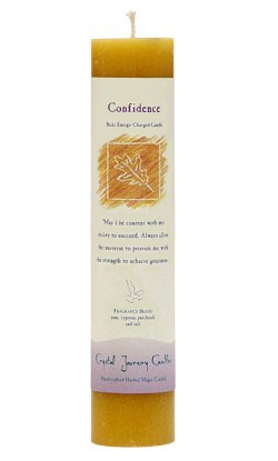 Crystal Journey Herbal Magic Pillar Candle - Confidence
