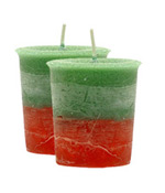 Frankincense & Myrrh Crystal Journey Traditional Votive Candle - 2 Candles