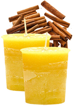 Cinnamon Crystal Journey Traditional Votive Candles [ 2 ]