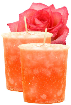 Rose Crystal Journey Traditional Votive Candles [ 2 ]