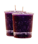 Lavender Crystal Journey Traditional Votive Candles [ 2 ]