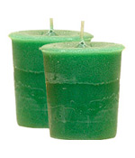 Money Crystal Journey Herbal Magic Votive Candles [ 2 ]