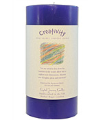 Crystal Journey Herbal Magic Pillar Candle 3X6 - Creativity