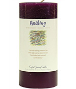 Crystal Journey Herbal 3X6 Pillar Candle - Healing
