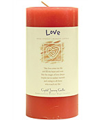 Crystal Journey Herbal Magic Pillar Candle 3X6 - Love