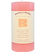 Crystal Journey Herbal 3X6 Pillar Candle - Manifest a Miracle