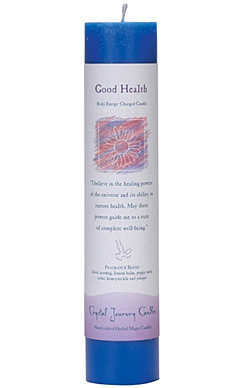 Crystal Journey Herbal Magic Pillar Candle - Good Health