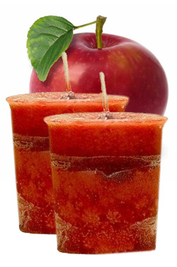 Apple Crystal Journey Traditional Votive Candles [ 2 ]