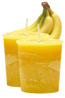 Banana Crystal Journey Traditional Votive Candles [ 2 ]