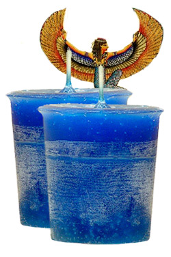 Egyptian Goddess Crystal Journey Traditional Votive Candles [ 2 ]