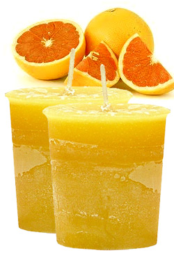 Grapefruit Crystal Journey Traditional Votive Candles [ 2 ]
