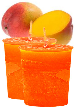 Mango Crystal Journey Traditional Votive Candles [ 2 ]