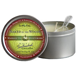 Earthly Body 3-in-1 Suntouched Massage Oil Candle - Naked in the Woods (White Tea & Ginger)