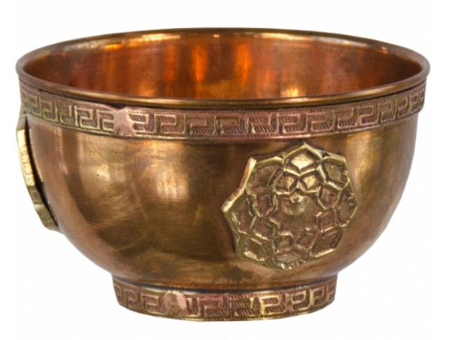 Discontinued - Lotus Offering Bowl (Copper)