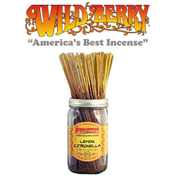 Lemon Citronella  Incense Sticks by Wild Berry Incense