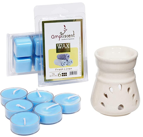 Ampliscent Candle / Wax Melt Gift Set - [Fresh Linen]
