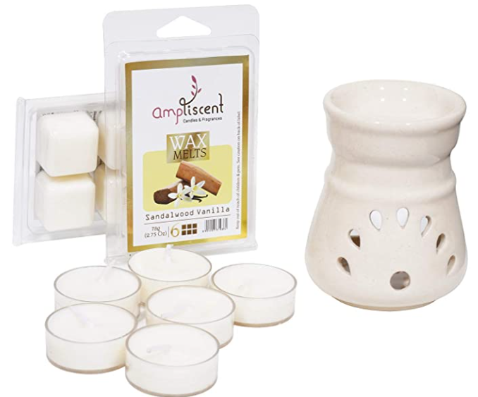 Ampliscent Candle / Wax Melt Gift Set - [Sandalwood Vanilla]