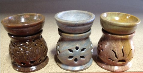 Soapstone Oil Burner - Assorted Design