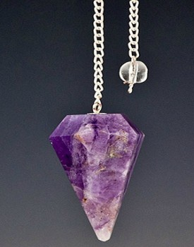 Amethyst 6 Faceted Pendulum <br><br>