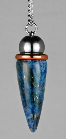 Sodalite Teardrop With Copper Energy Ring