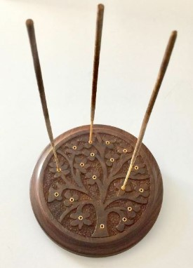 Round Wooden Burner - Tree of Life