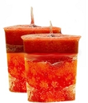 Apple Cinnamon Crystal Journey Traditional Votive Candle - 2 Candles