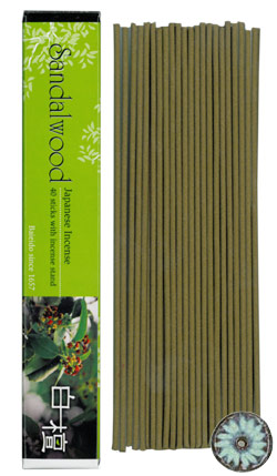 Baieido Sandalwood Incense (Imagine Series) 40 Sticks + Holder