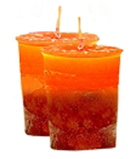 Cranberry/Orange Crystal Journey Traditional Votive Candles [ 2 ]