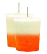 Creamsicle Crystal Journey Traditional Votive Candles [ 2 ]