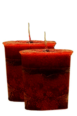 Strawberry Crystal Journey Traditional Votive Candles [ 2 ]