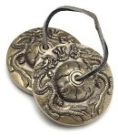 Solid Brass Ting-sha - Embossed Dragon