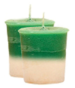 Sandalwood Crystal Journey Traditional Votive Candles [ 2 ]
