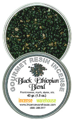 Gourmet Resin Incense - Black Ethiopian 1.5 oz. Tin