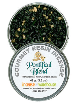 Gourmet Resin Incense - Pontifical Blend 1.5 oz. Tin