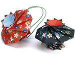 Hana-kuruma Flower Wheel Japanese Incense Origami Sachet