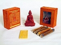 Healing Buddha Statue with Tibetan Incense Set - 48 Sticks 3.5