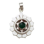 Sterling Silver Chakra Pendant - Heart