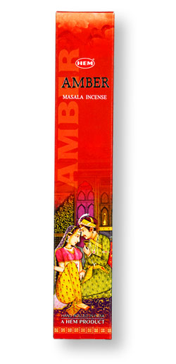 HEM Amber Masala Incense - 12 Stick Box