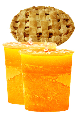 Hot Apple Pie Crystal Journey Traditional Votive Candles [ 2 ]