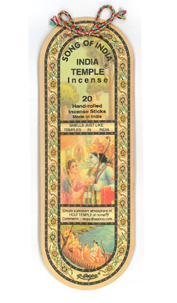 Song Of India - India Temple Incense Sticks 25g