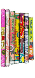 Traditional Indian Tube Incense - 6 Tube Sampler Pack