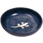 Gecko Soapstone Smudge Bowl w/ Mother of Pearl Inlayl