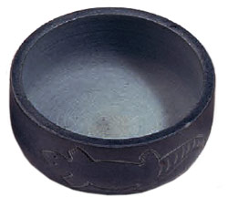 Stone Burner - Charcoal Burner - Inscribed Dreamtime Soapstone Lizard Bowl - Charcoal Burner