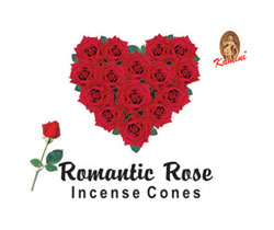 Kamini Cone Incense - Romantic Rose Incense Cones