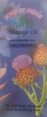 Song Of India Herbal Massage Oil - Nag Champa